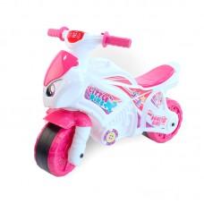 Детская каталка-мотоцикл Технок 6368, розово-белый