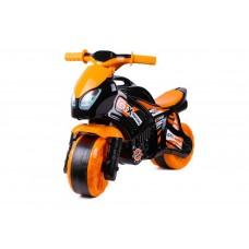 Детская каталка мотоцикл Технок 5767, черно-оранжевый