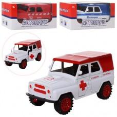 Машинка J0092FPR-6 инерционная, 15, 5см, откр.двери, микс вид скорая, пожарн, полиция
