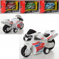 Мотоцикл AS-2239 АвтоСвіт, металл, инерц-й, 9см, 4 цвета