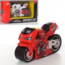Мотоцикл AS-2244 АвтоСвіт, металл, инерционная, 9см, 4 цвета
