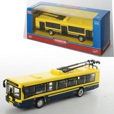 Троллейбус 6407D металл,  инерционный, 16-4, 5-3, 5см, 1:72, рез.колеса