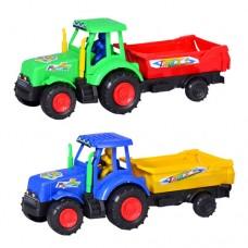 Заводная игрушка 099 трактор, с прицепом, 2 цвета