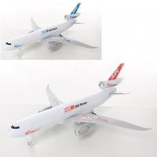 Самолет 350D-116 заводной, 29см, ездит, 2цветаке
