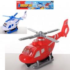 Вертолет 6286 инерционный, 30см, подвиж.лопасти, 2цветаке
