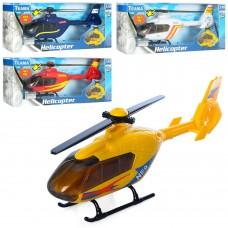 Вертолет 70112 металл, 1:48, 24см, зв, св, 4вида, бат таб
