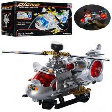 Вертолет 777 21см, звук, свет, ездит, вращается винт, на батарейках