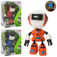 Робот MY66-Q1201 металл,  инерционный, 12см, зв, св, 3цвета, на бат таб