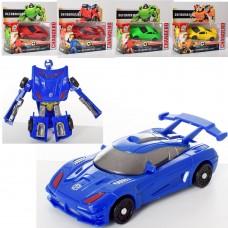Трансформер 668-18-19-20 робот+машинка, 11см, 3вида по 2цвета