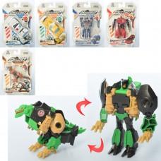 Трансформер 675-10 робот-машина/динозавр, 11см, 6видов 1в-полиция, в слюде