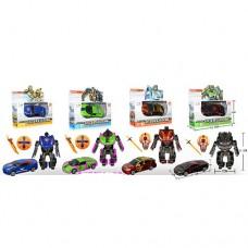 Трансформер W126 TF+AV, металл, 11см, машинка+робот, оружие, 1:36, 4 вида, кор-ке