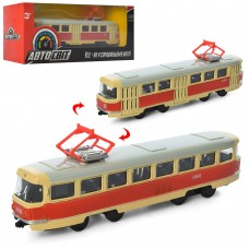 Трамвай AS-1828 АвтоСвіт 1:87, металл,  инерционный, 16, 5см