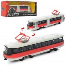 Трамвай AS-1831 АвтоСвіт 1:87, металл,  инерционный, 16, 5см