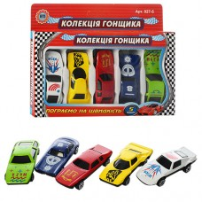 Набор машинок, железная MB 5 №1 Коллекция гонщика, 5 машинок