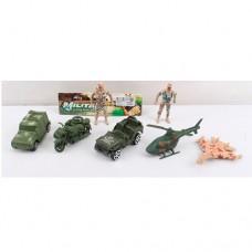 Набор с транспортом 0913-E комбат, военная техника 5шт, солдат2шт, 9смке