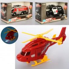 Транспорт 2884-5-6 от15см, 3в вертолет, пожарн.маш, джип-полиция, зв, св, бат таб