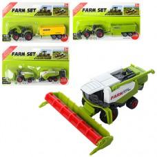 Транспорт SQ82012-2 металл, 17см, сельхозтехника, 4вида