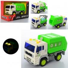 Машина AS-2184 АвтоСвіт, 1:20, инер, 18см, звук, свет, 3вида стройтехника/мусоровоз, бат табл, в кор