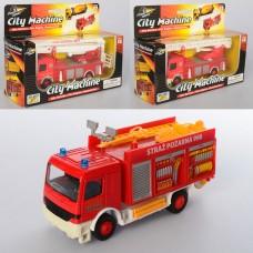 Машинка 830FW металл,  инерционный, пожарная от12см, 3вида