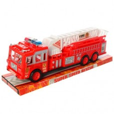 Пожарная машина 109A инерционная, 33см, вышка, подвижн.детали, в слюде