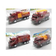 Пожарная машина 128-1-2-3-4 инерционная, 22, 5см, 4видаке