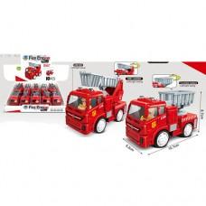 Пожарная машина 8814 инерционная, 10см, подвиж.детали, рез.колеса, 10шт 2вид