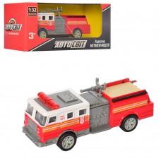 Пожарная машина AS-2197 АвтоСвіт, 1:32, металл, инерционная, 12, 5см, рез.колеса