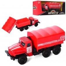 Пожарная машина AS-2211 АвтоСвіт, металл, инерционная, 12, 5см, рез.колеса