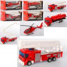 Пожарная машина AS-2281 АвтоСвіт, металл, от 14, 5см, 3вида 1в-вертолет