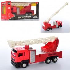Пожарная машина AS-2327 инерционная, 21см, звук, свет, резиновые колеса, открыв.двери, бат табл