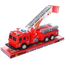 Пожарная машина SH-9008 инерционная, 31см, подвижн.детали, в слюде