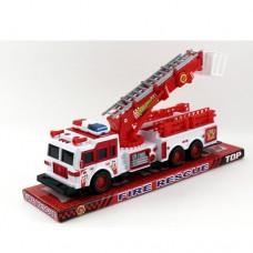 Пожарная машина SH-9009 инерционная, 30см, подвижные детали, в слюде
