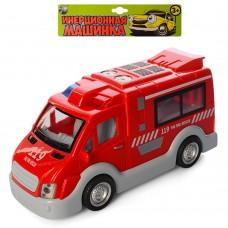 Пожарная машина T584-D6144ST66-05 инерционная, 17см, звук, свет, бат табл