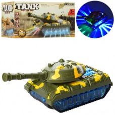 Танк 9037A 22см, ездит, звук, 3Dсвет, на батарейках