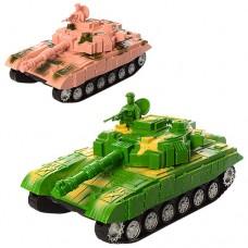 Танк 9909-1 27см, подвижный корпус, 2цветаке