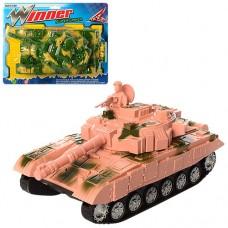 Танк 9909 27см, подвижный корпус, 2цвета