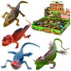 Животное 837H-4S ящерица/крокодил, 20см, 24шт 4вида