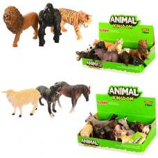 Животные 16088AB от 9см, 2вида дикие, домашние, 12шт 2вида