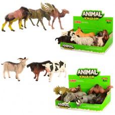 Животные 16098BC от 11см, 2вида дикие, домашние, 6шт