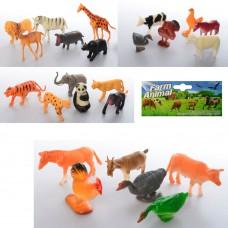 Животные 2004-6 6шт, дикие, домашние, от 6см, 4видаке