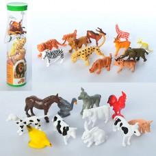 Животные 9689-15-16 12 шт, от 4 см.