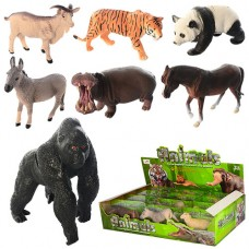 Животные D160-12P-PA от8, 5см, 2вида дикие, домашние, в слюде, 12шт