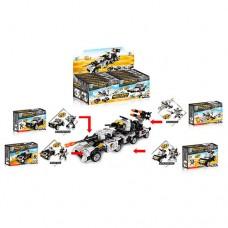 Конструктор 123-183/187 транспорт, робот, от 100 деталей, 12шт 4вида