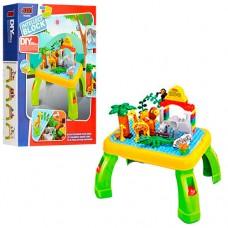 Конструктор 3688A зоопарк, игровой столик, фигурки, животные, 55дет