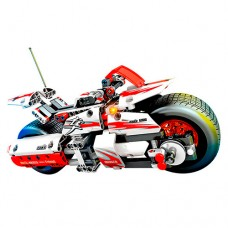 Конструктор 701500 мотоцикл-инерц, фигурка, 392дет