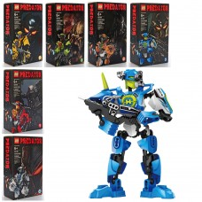 Конструктор 82106 робот/супергерой, шарнирный, оружие, 6видов