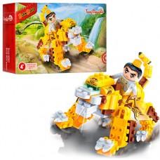 Конструктор BANBAO 6611 Китайский дракон, фигурка воина, 158дет