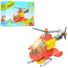 Конструктор BANBAO 9721 вертолет, фигурка, отвертка, 17дет