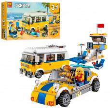 Конструктор BELA 11047 3в1, транспорт, фигурки, 391дет