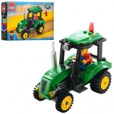 Конструктор BRICK 1102 трактор, 112 деталей